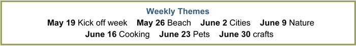 Read & Go 2014 Summer Reading Challenge Weekly Themes | StuffedSuitcase.com