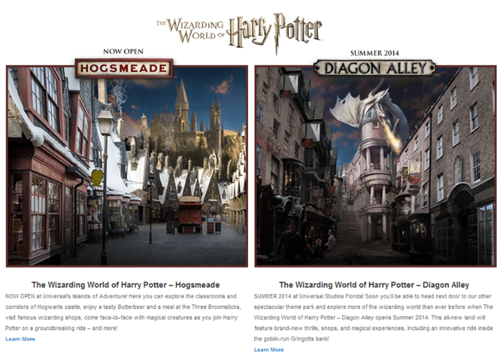 Wizarding World of Harry Potter at Universal Orlando Hogsmeade and Diagon Alley