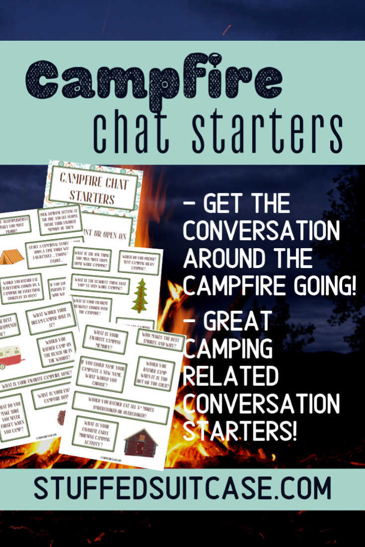 campfire chat starters pin