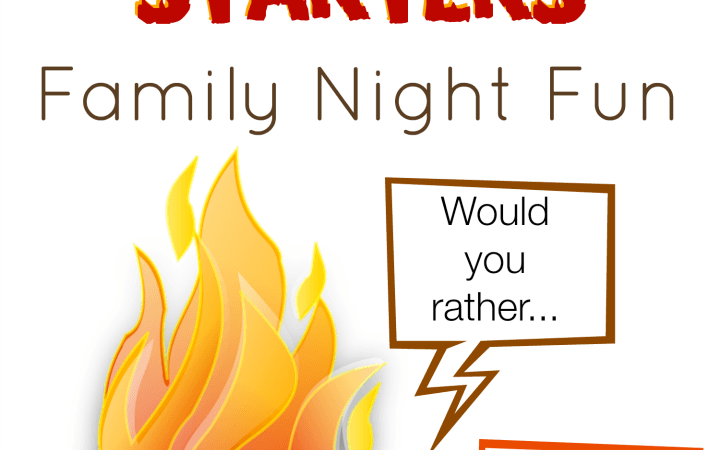 Campfire Conversation Starters for your next Family Fun Night - free printable StuffedSuitcase.com camping
