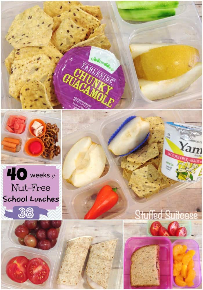 Kids School Lunches Nut-Free Week 38 of 40 StuffedSuitcase.com