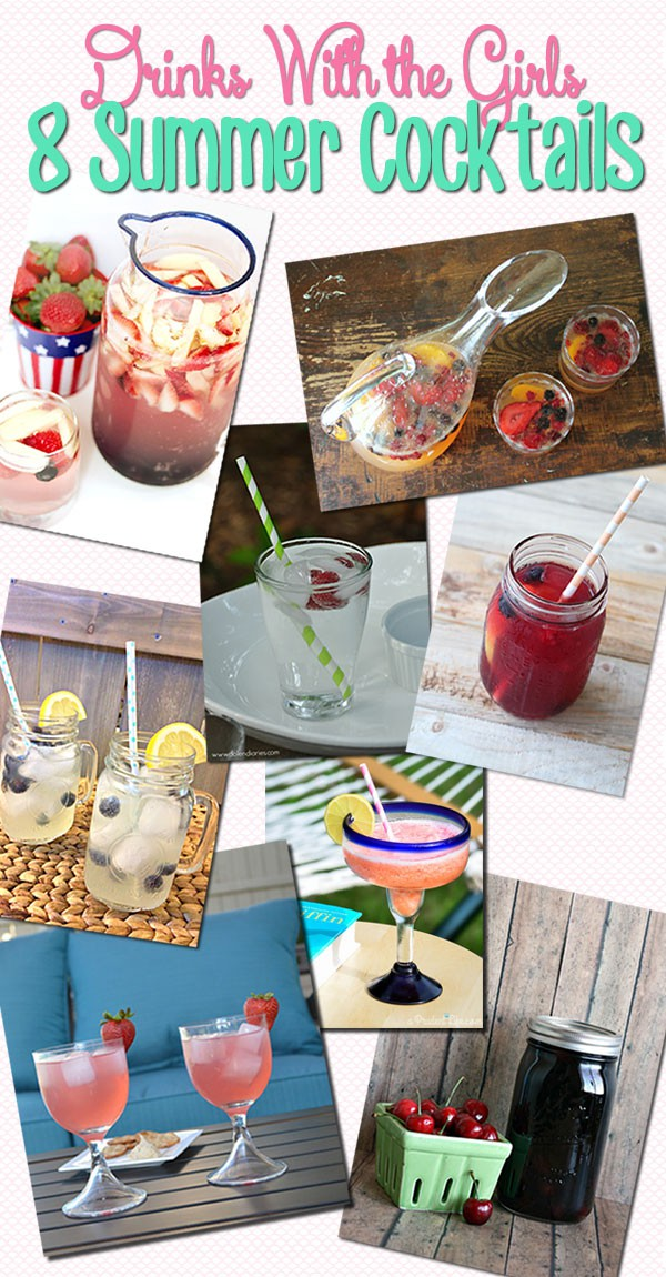 Summer Drinks with the Girls - kick back and relax with these cocktail beverage recipes StuffedSuitcase.com
