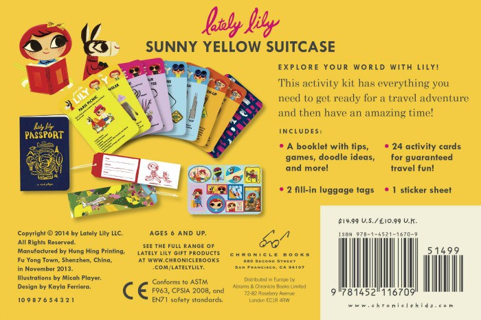 Sunny Yellow Suitcase contents