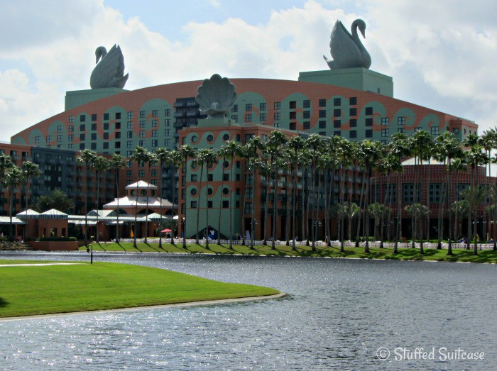 View of the Walt Disney Swan Hotel