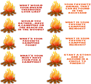 Campfire Conversation Starters for Family Fun Night StuffedSuitcase.com