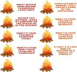 Campfire Conversation Starters for Family Fun Night StuffedSuitcase.com