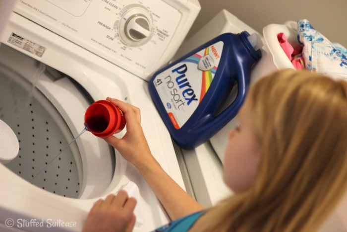 Helping teach you kids chores - doing their own laundry