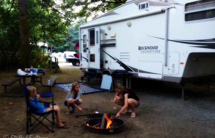 Family Camping Trip at Wenberg County Park Washington