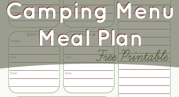 camping menu planner template - stuffed suitcase creating memories through travel and