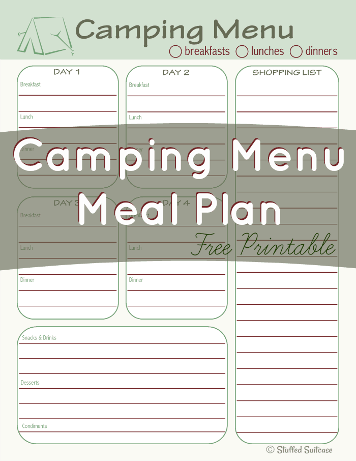 Free Printable Menu Planners - Mel and Boys Kitchen