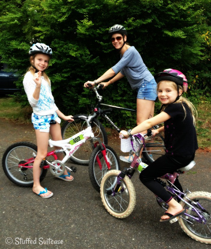 Family Biking at Wenberg County Park
