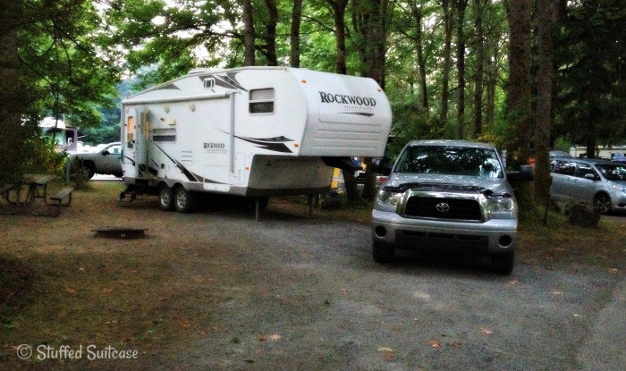 Wenberg County Park Campground Trailer Premium Hook up spot WE-27