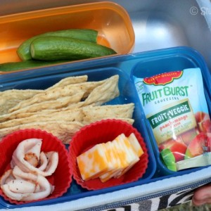 Well Balanced School Lunch packed in divided containers StuffedSuitcase.com