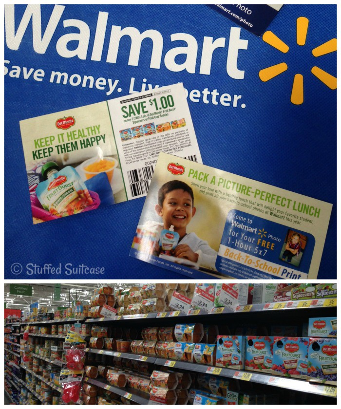 Walmart Back to School Photo Print offer Del Monte coupon