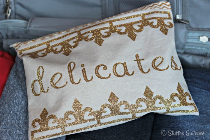 Create your own delicates bag for packing your lingerie in your suitcase | StuffedSuitcase.com