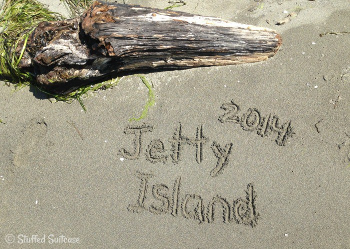 Beach Vacation Location Written in the Sand