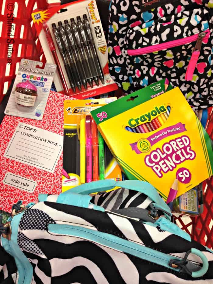 stocking up on back to school supplies #BTSwithTarget StuffedSuitcase.com