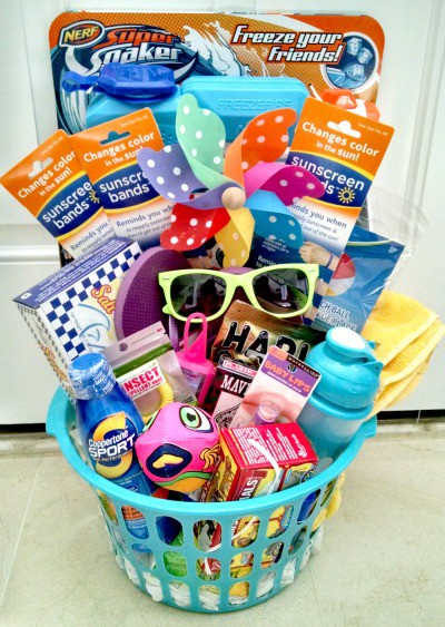 Sun Safety With Sunscreen Bands Stuffed Suitcase