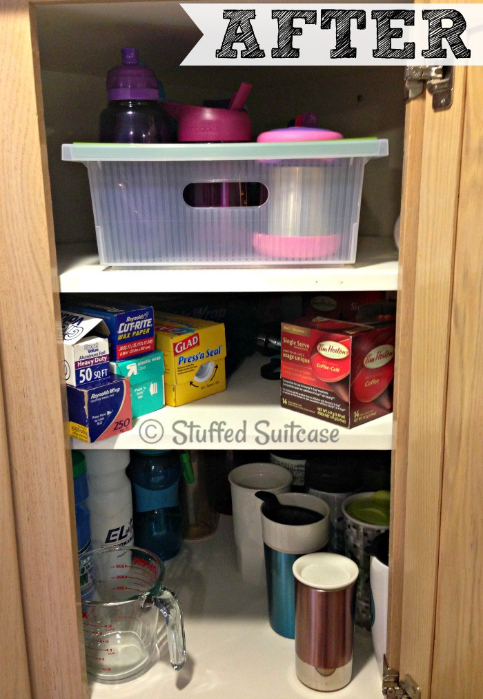AFTER: Our Kitchen Cabinet Organization Ideas