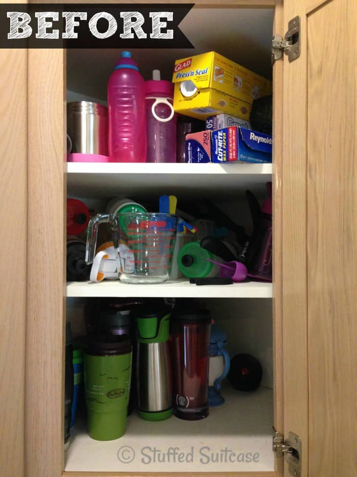 Charming Kitchen Organization Ideas: BEFORE Corner Cabinet Organizing  StuffedSuitcase.com