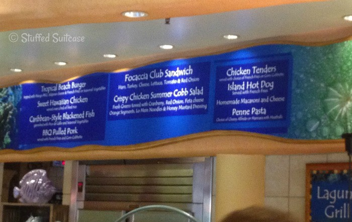 Lunch Menu at Discovery Cove