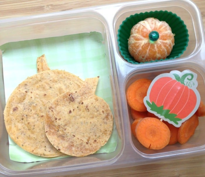 Pumpkin Themed School Lunch