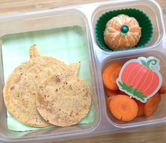 Pumpkin Themed School Lunch