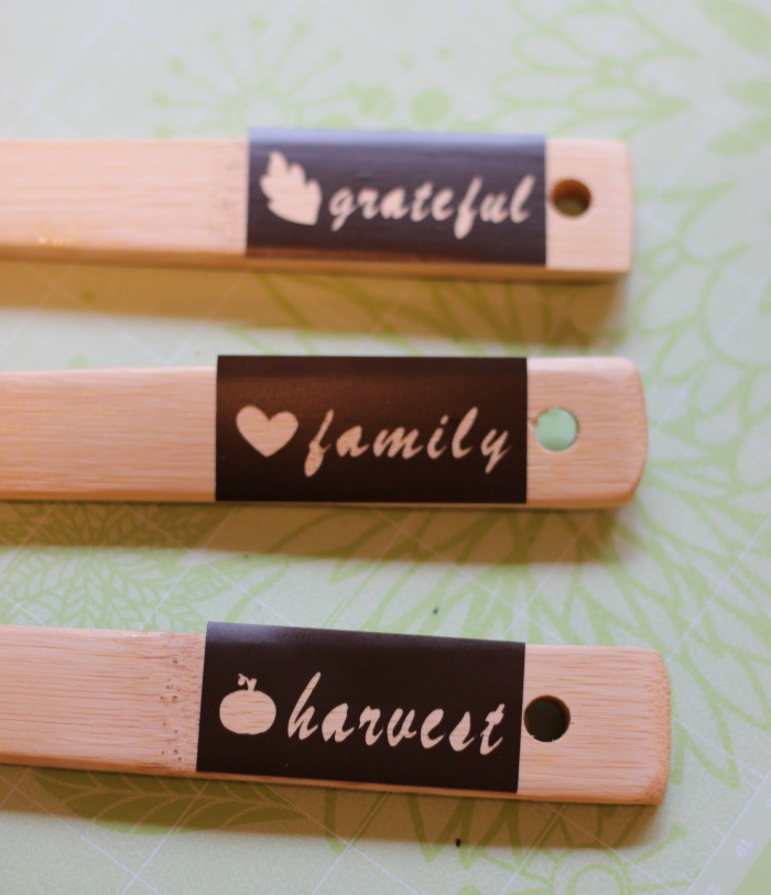 Apply Vinyl Stencils to Serving Utensil Handles