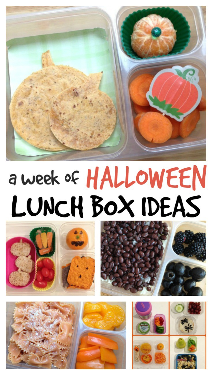 These Halloween lunch ideas for kids are sure to surprise and brighten their day! A week of ideas to pack some of these spooky halloween lunch ideas!