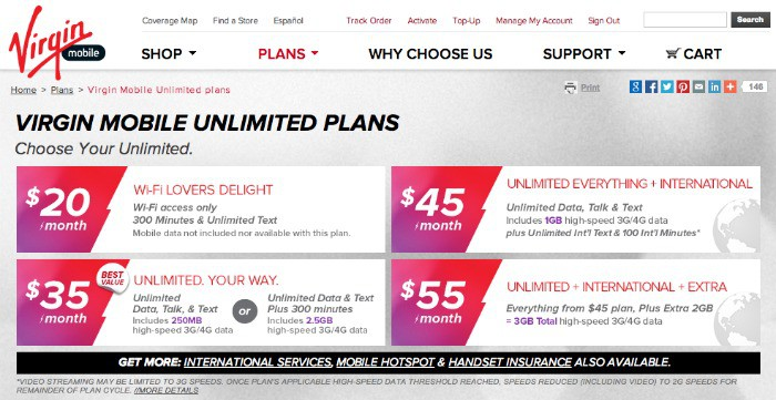 Cell mobile phone plan virgin