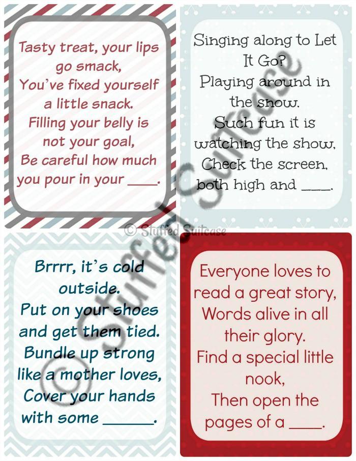 Fine Christmas Scavenger Hunt Clues More Family Tradition Fun Easy Diy Christmas Decorations Tissureus