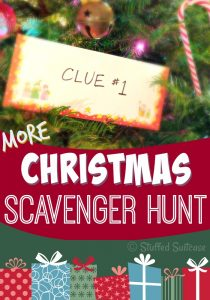 Ready for fun on Christmas morning? Start a new family tradition by hiding a gift and giving your kids a Christmas Scavenger hunt clues! Fun for all! StuffedSuitcase.com