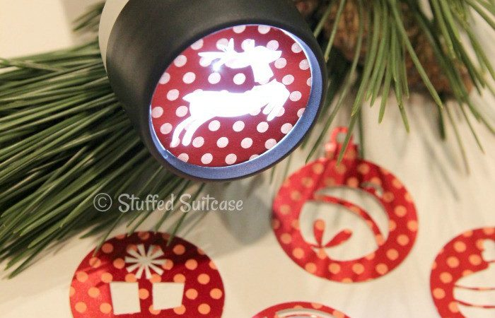 DIY Christmas Holiday Flashlight Projections Craft