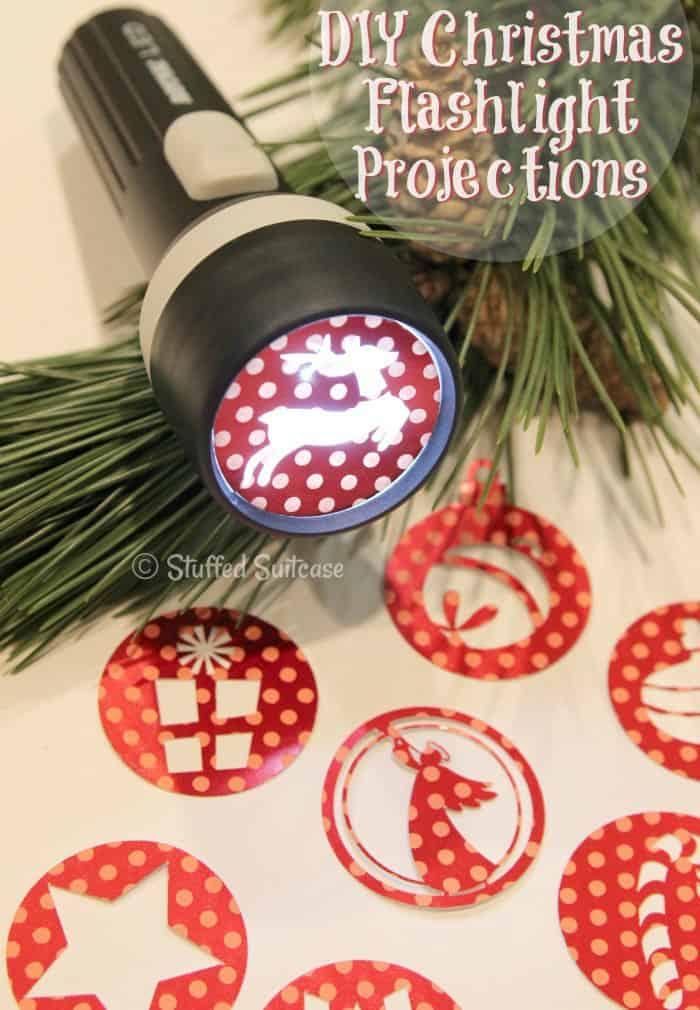 Have a bit of fun this Christmas and create these DIY Flashlight Projection crafts for your kids to play around with. Great for late nights waiting for Santa! StuffedSuitcase.com