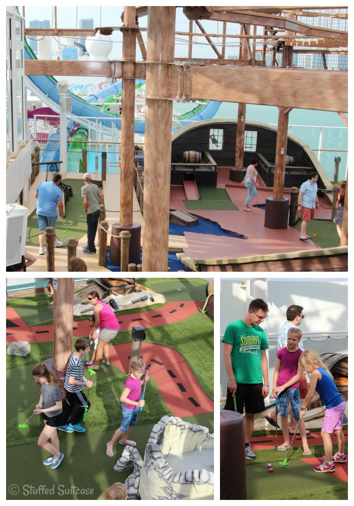 Putt Putt Golf Pirate Course on Norwegian Getaway