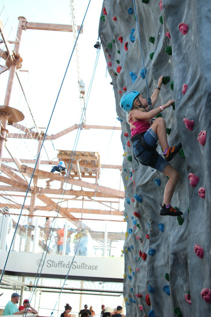 Rock Climbing Wall on Norwegian Getaway