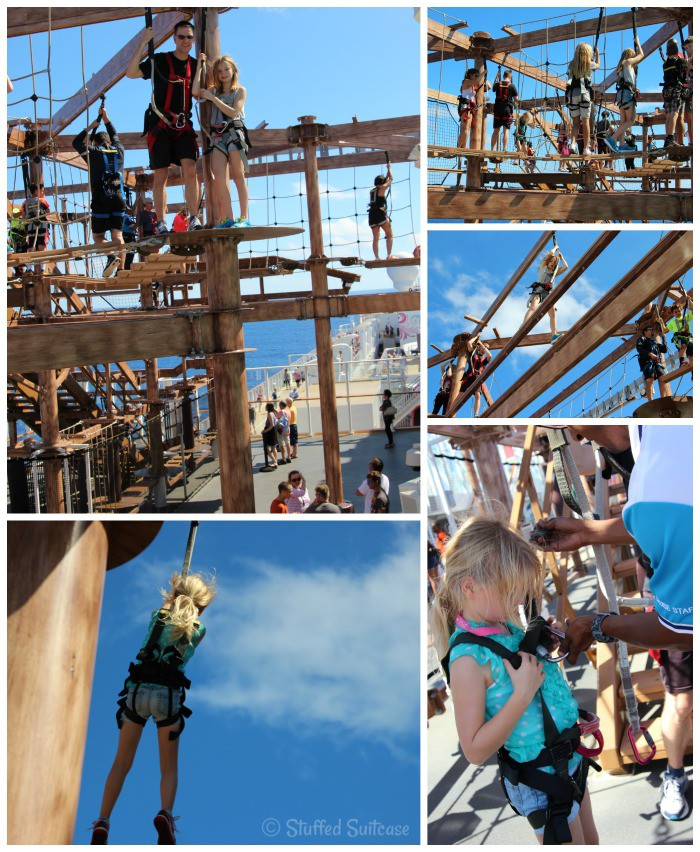 Ropes Course on top of Norwegian Getaway