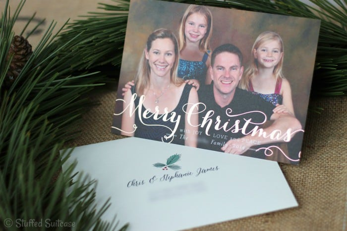 Our Family Christmas Card with minted envelope