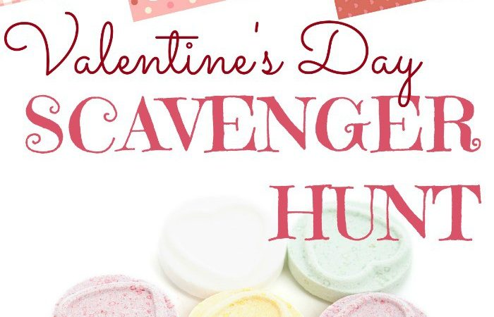 Valentines Scavenger Hunt for Kids