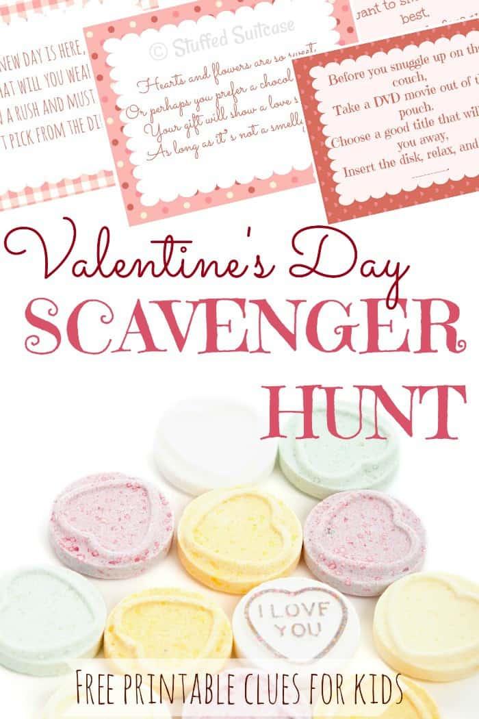 Valentines Scavenger Hunt For Kids Fun Gift Ideas