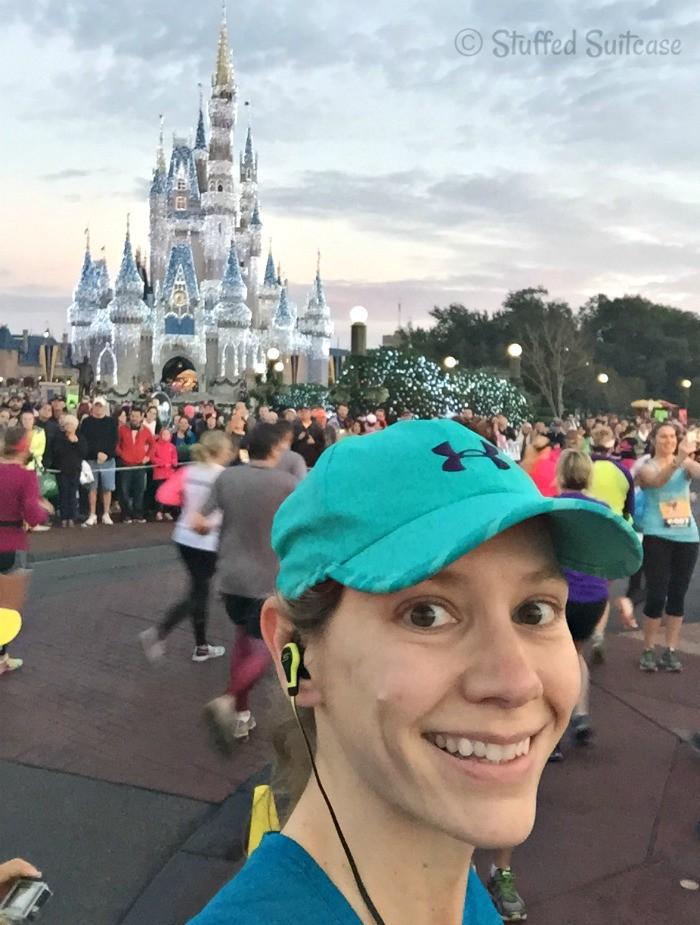 Running through the Magic Kingdom at Walt Disney World for Marathon and Dopey Challenge