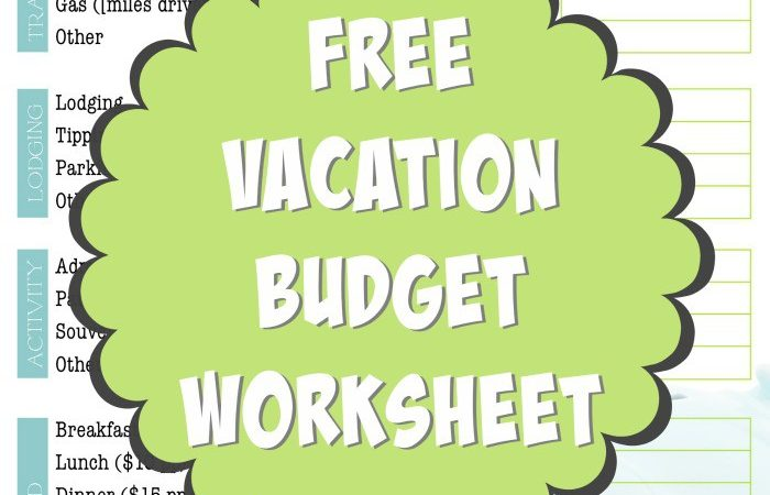 Create a Travel Budget Vacation Cost Worksheet – Create Worksheet