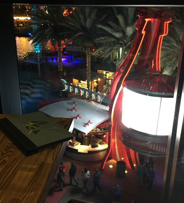Great views overlooking the nightlife activity at the City Walk from The Cowfish.