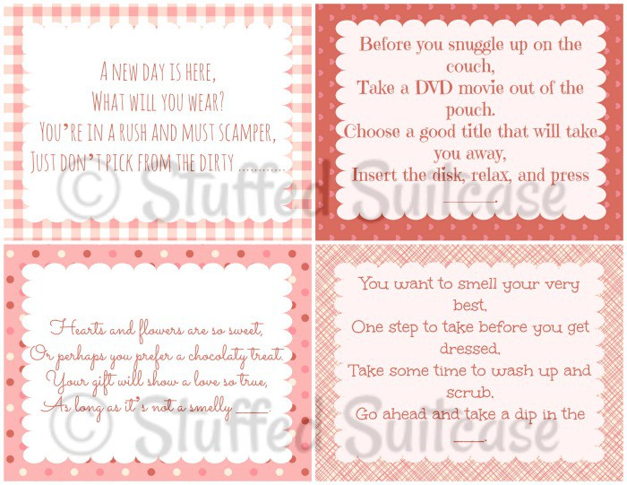Free Printable Valentine Scavenger Hunt Clues