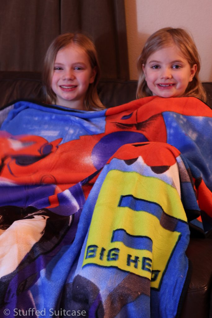 Sunggled up with our new Big Hero 6 plush blanket from Walmart.com