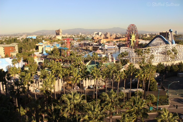Our view of California Adventure Park from Paradise Pier Hotel