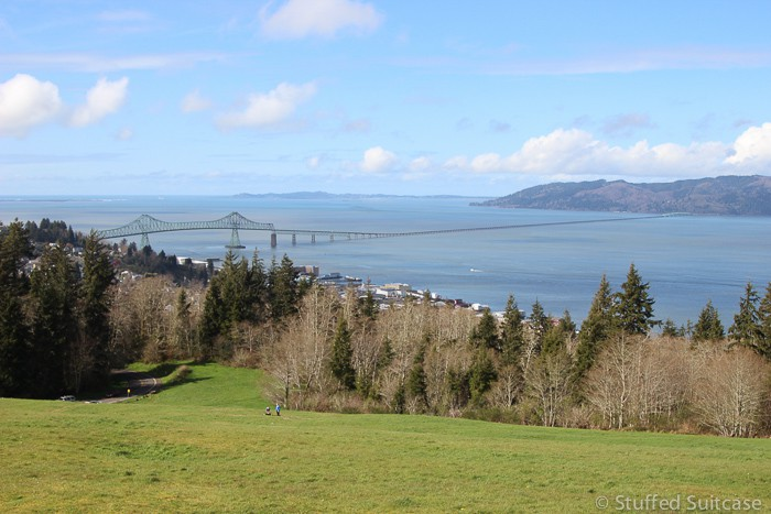 Looking upon Astoria, Oregon from the Astoria Column