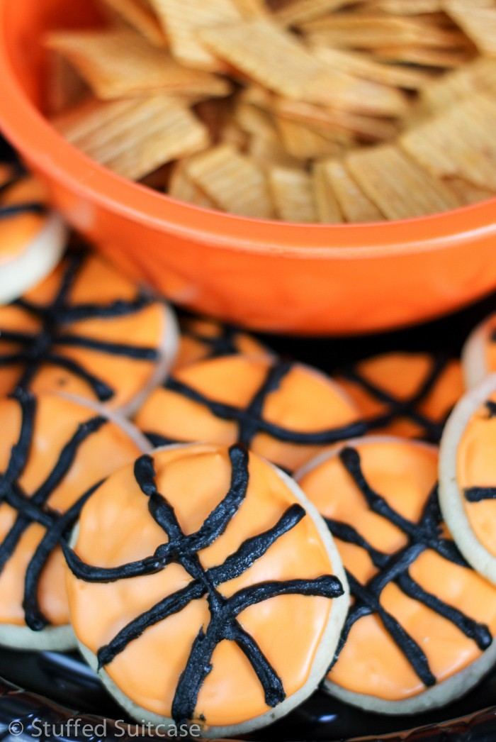 Basketball party cookies