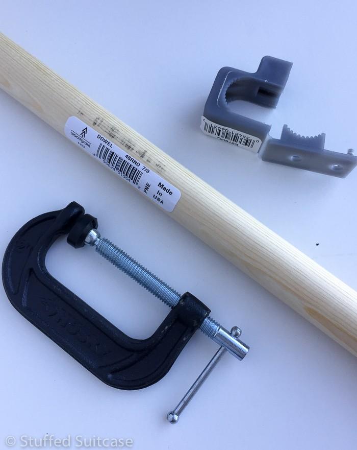Hardware Supplies To Make Tabletop Basketball Hoop