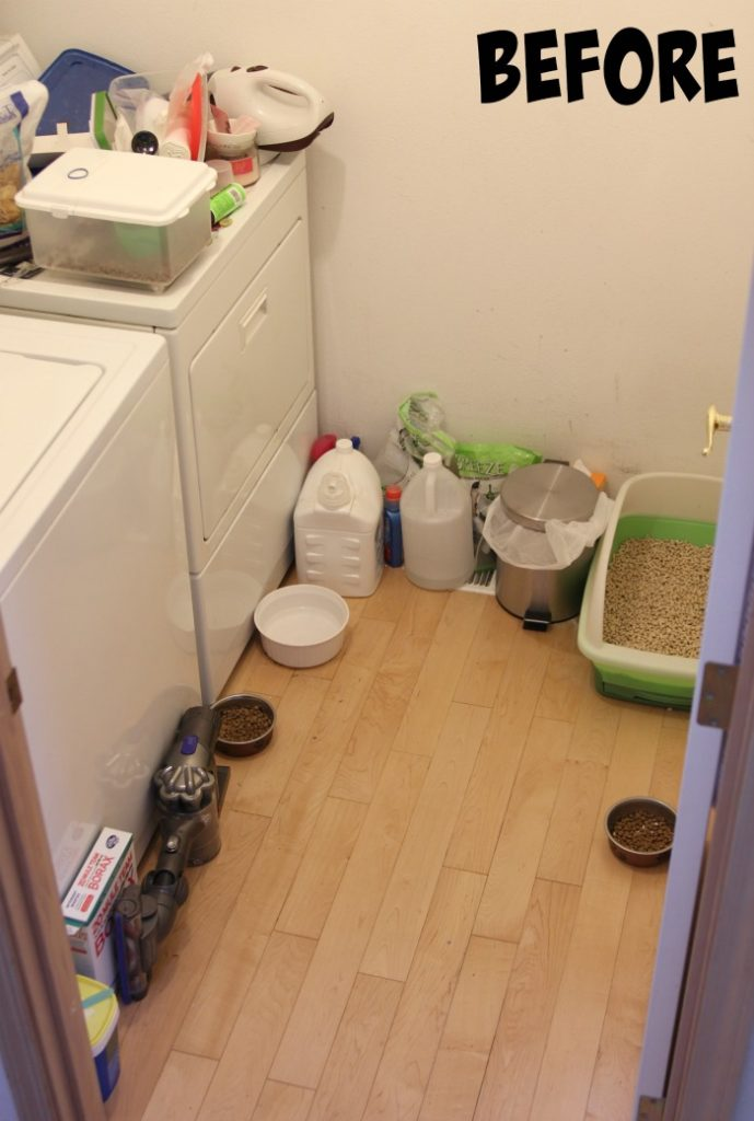 Laundry Room Cat Before